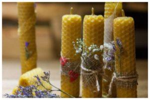 Травы и ароматические масла в свечах